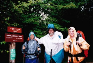 Gail, Porter, and Philip on the Appalachian Trail