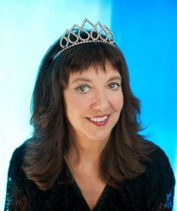 Gail Storey in tiara