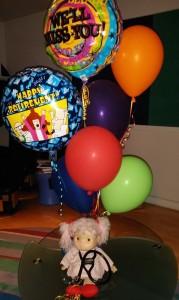 Amber w:Porter's stethoscope & balloons