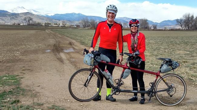 tandem biking to Lyons
